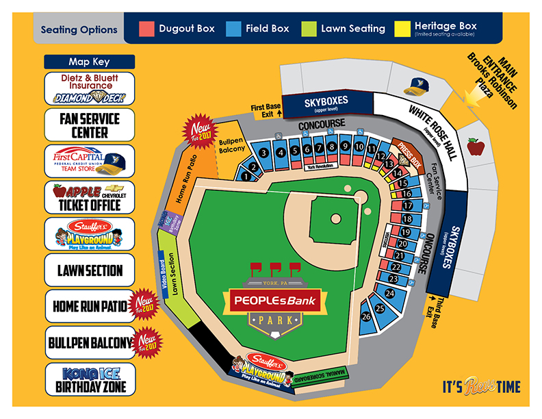 PeoplesBank Park Seating Diagram
